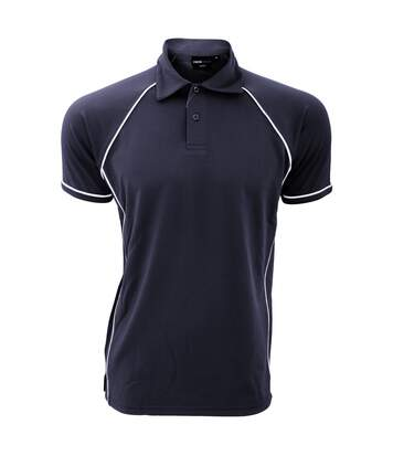 Finden & Hales Mens Piped Performance Sports Polo Shirt (Navy/White) - UTRW427