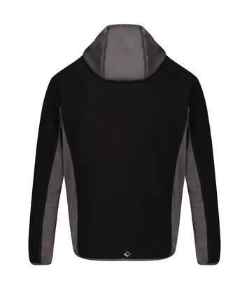 Regatta Mens Kniver Hooded Stretch Fleece (Black/Magnet Grey) - UTRG4627