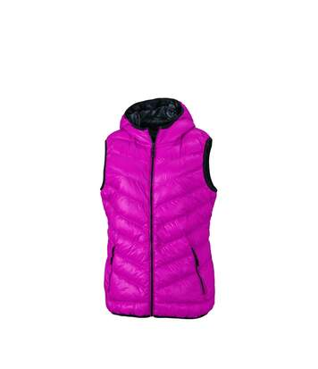 Bodywarmer duvet doudoune sans manches FEMME - JN1061 - rouge magenta