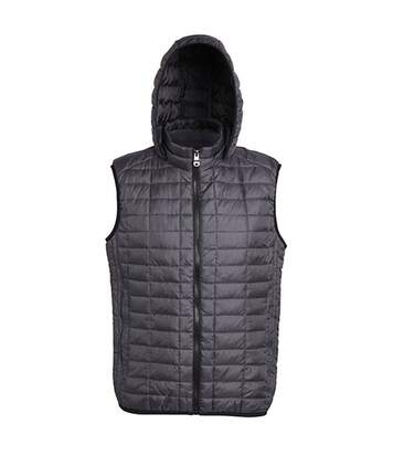 2786 Mens Honeycomb Zip Up Hooded Gilet/Bodywarmer (Navy) - UTRW5261