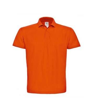 B&C ID.001 Unisex Adults Short Sleeve Polo Shirt (Orange) - UTBC1285