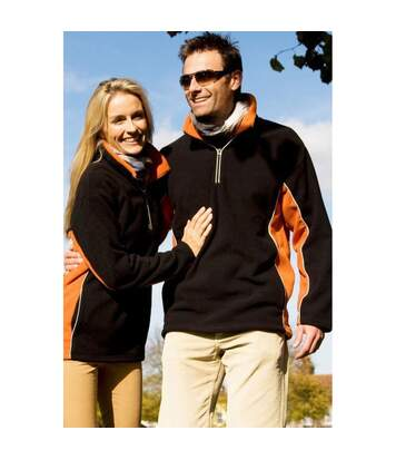 Result Mens Tech3 Sport Anti Pilling Windproof Breathable Fleece (Black/Orange) - UTBC935