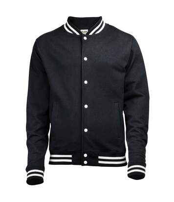 Awdis Adults Unisex College Varsity Jacket (Jet Black) - UTRW174
