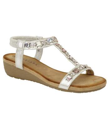 Cipriata Womens/Ladies Lia Sandals (Silver) - UTDF1557