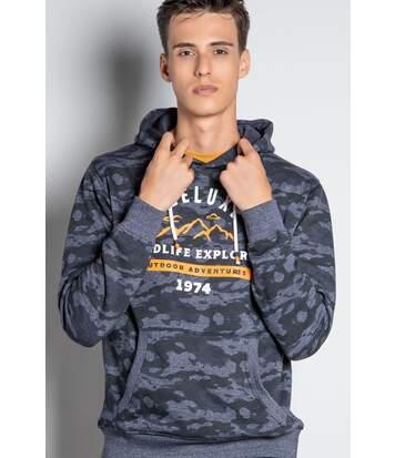 Sweat à capuche camouflage DAIKOSON Navy
