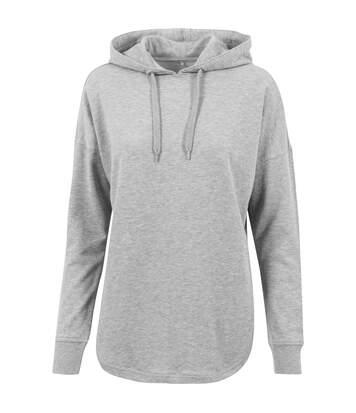 Build Your Brand Womens/Ladies Oversized Hoodie (Grey) - UTRW6479