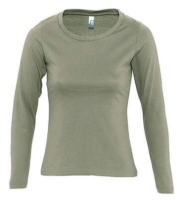 T-shirt manches longues FEMME - 11425 - vert kaki