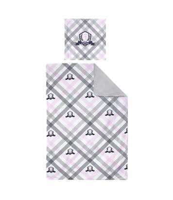 Parure de lit 140x200 cm 100% coton JUBILE Blanc 2 pièces