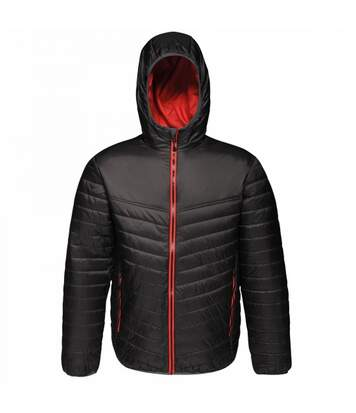 Regatta Mens Acadia II Hooded Jacket (Granite Grey/Pastel Orange) - UTRG3745