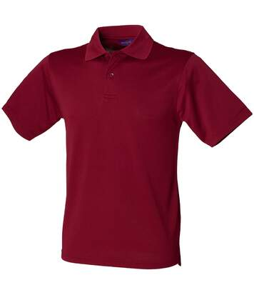 Henbury Mens Coolplus® Pique Polo Shirt (Burgundy) - UTRW635