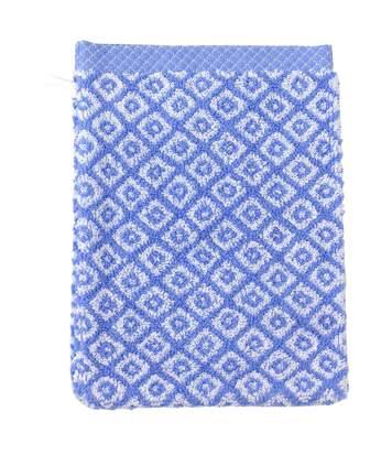 Gant de toilette 16x21 cm SHIBORI mosaic Bleu 500 g/m2