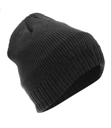 FLOSO Mens Thinsulate Knitted Thermal Beanie Winter/Ski Hat With Inner Lining (3M 40g) (Black) - UTHA312