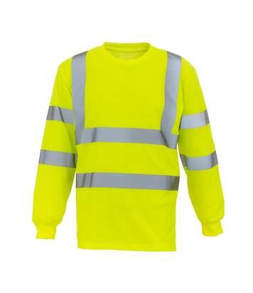 Yoko Mens Hi Vis Long Sleeve Tee (Hi Visibility Yellow) - UTBC3937