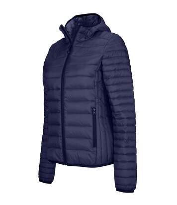 Doudoune légère à capuche - K6111 - bleu marine - Femme