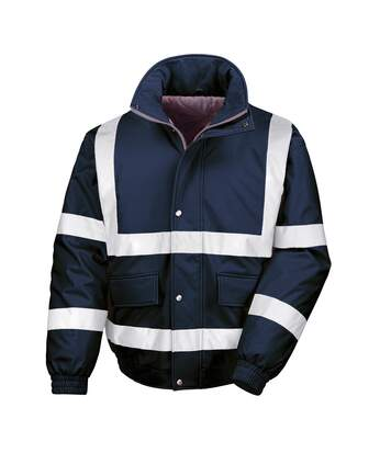 Result Mens Reflective Safety Padded Softshell Blouson Jacket (Navy) - UTRW4849