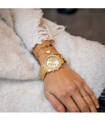 Coffret montre Femme M. JOHN bracelet Acier Doré