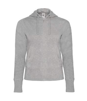 B&C - Sweatshirt À Capuche Et Fermeture Zippée - Femme (Gris) - UTRW3009
