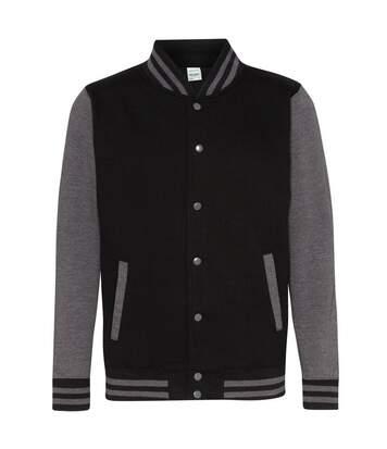 Awdis Unisex Varsity Jacket (Jet Black/ Charcoal) - UTRW175