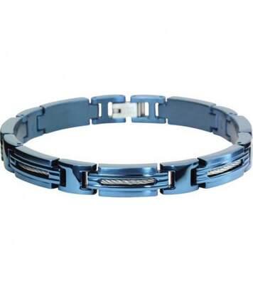 Bracelet homme ROCHET modèle MARINA en acier bleu - B062366