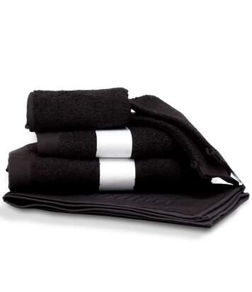 Parure de bain 6 pièces PURE Noir 550 g/m2