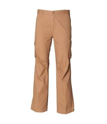 Skinni Fit Mens Cargo Trousers (Sand) - UTRW1410