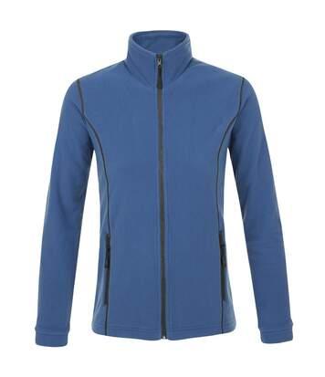 Veste micropolaire zippée femme - 00587 - bleu ardoise