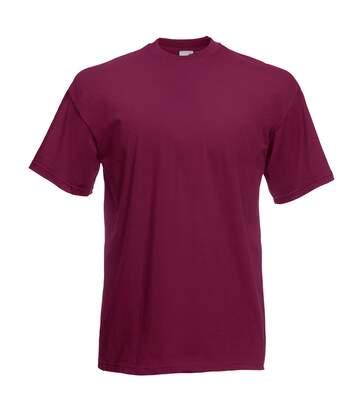 Fruit Of The Loom - T-Shirt Manches Courtes - Homme (Bordeaux) - UTBC330