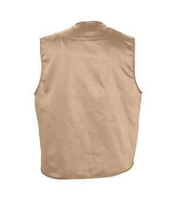 SOLS Wild Unisex Full Zip Waistcoat Bodywarmer Jacket (Rope) - UTPC354
