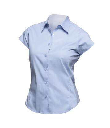 SOLS Womens/Ladies Excess Short Sleeve Fitted Work Shirt (Bright Sky) - UTPC399