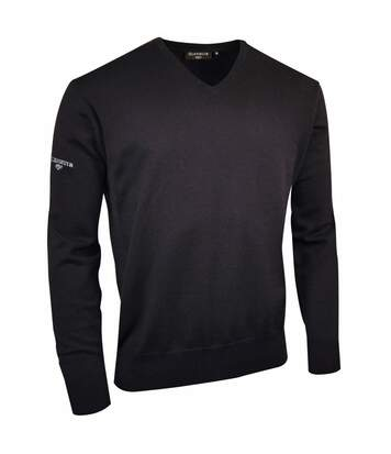 Glenmuir - Sweatshirt À Col En V 100% Coton - Homme (Bleu marine) - UTRW518