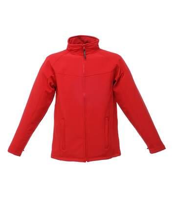Regatta Uproar Mens Softshell Wind Resistant Fleece Jacket (All Black) - UTRG1480