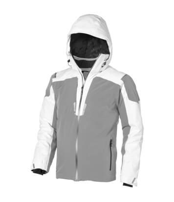 Elevate Mens Ozark Insulated Jacket (White/Grey) - UTPF1918