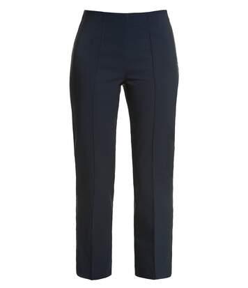 Pantalon Gina Laura 7/8 bleu flair classique et coupé NOUVEAU