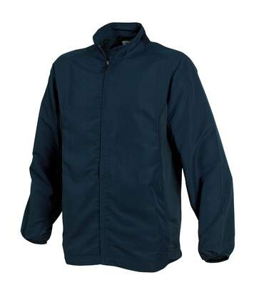 Tombo Teamsport Mens Sports Full Zip Lined Training Top / Jacket (Navy/Navy/Navy) - UTRW1527