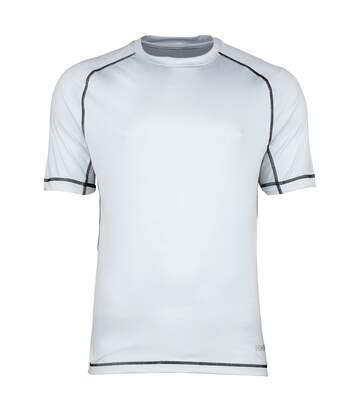 Rhino Mens Mercury Breathable Performance Sports T-Shirt (Silver Grey/Black Stitching) - UTRW1286