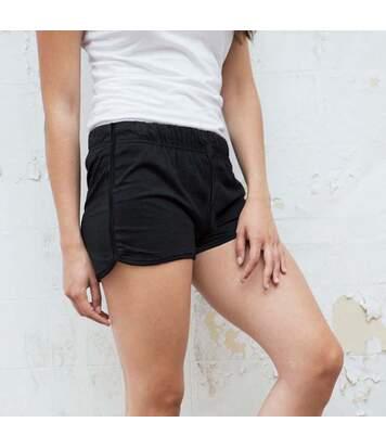 Skinni Fit - Short De Sport Rétro - Femme (Noir/Noir) - UTRW2838