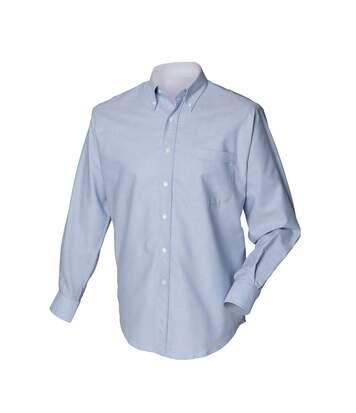 Henbury Mens Long Sleeve Classic Oxford Work Shirt (Blue) - UTRW637