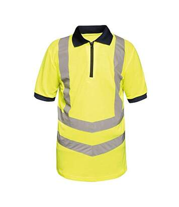 Regatta Mens Hi Vis Pro Reflective Work Polo Shirt (Yellow/Navy) - UTRG3983