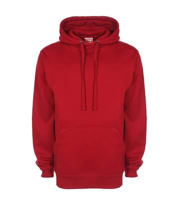 FDM Unisex Plain Original Hooded Sweatshirt / Hoodie (300 GSM) (Cranberry) - UTBC2024
