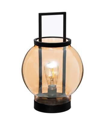 Atmosphera - Lampe d' Ambiance à LED en Verre Ambré D 19 cm