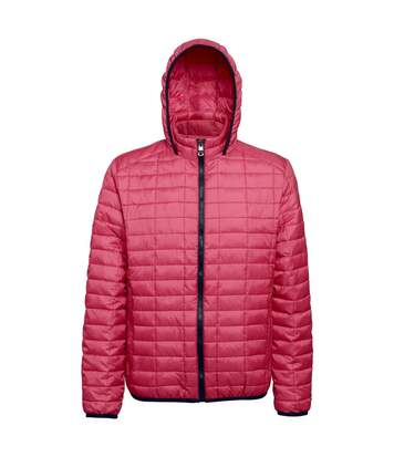 2786 Mens Honeycomb Padded Hooded Jacket (Red) - UTRW5018