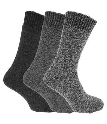 Chaussettes Thermiques (Lot De 3) - Homme (Nuances de gris) - UTMB430
