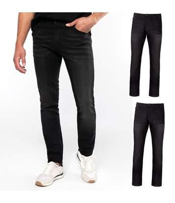 Lot 2 pantalons jean pour homme - K743 - noir