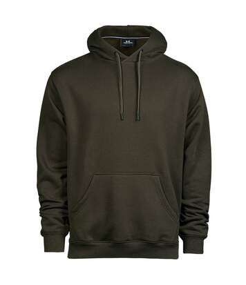 Tee Jays Mens Hooded Sweatshirt (Dark Olive) - UTPC4097