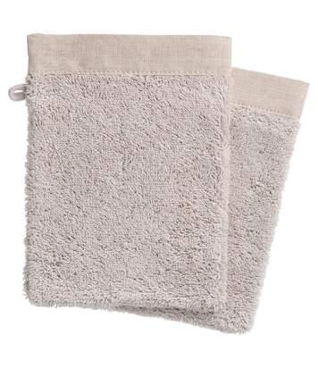 Atmosphera - Lot de 2 Gants de toilette en Coton 15 x 21 cm