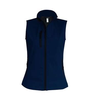 Bodywarmer softshell - gilet sans manches - K404 - bleu marine - Femme