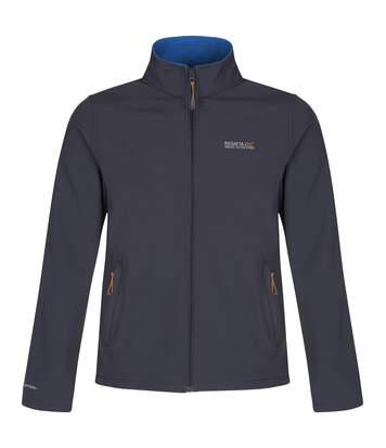 Regatta Great Outdoors Mens Cera III Lightweight Softshell Jacket (Iron/Oxford Blue) - UTRG845