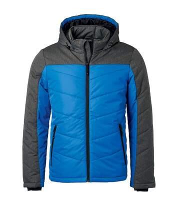Veste matelassée à capuche - doudoune - JN1134 - bleu roi - homme