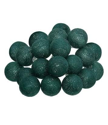 Atmosphera - Guirlande décorative lumineuse Vert cèdre 20 boules LED D 6 cm et L 436 cm