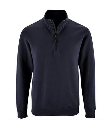 SOLS Mens Stan Contrast Zip Neck Sweatshirt (French Navy) - UTPC3172